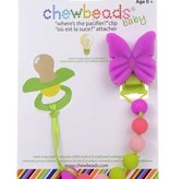 chewbeads Chewbeads Butterfly Paci Clip
