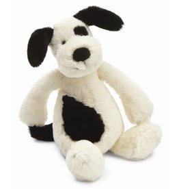 JellyCat Jelly Cat Bashful Black/Cream Puppy Small