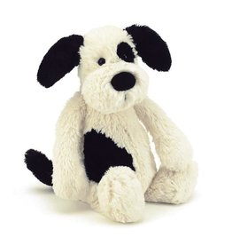 JellyCat Jelly Cat Bashful Black and Cream Large Puppy