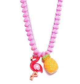 Bottleblond Jewels BottleBlond Fabulous Flamingo with Cord Necklace