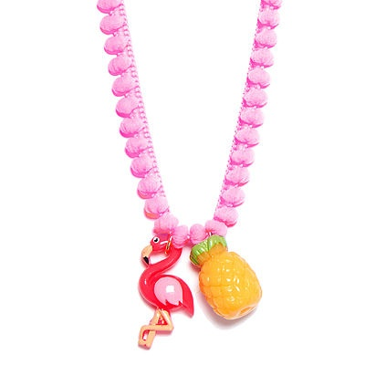Bottleblond Jewels BottleBlond Fabulous Flamingo with Cord Necklace