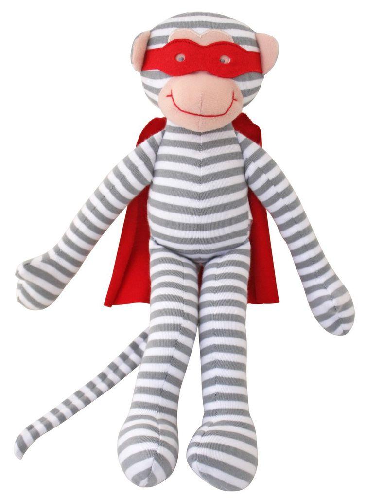 Alimrose Alimrose Super Hero Monkey Squeaker Rattle