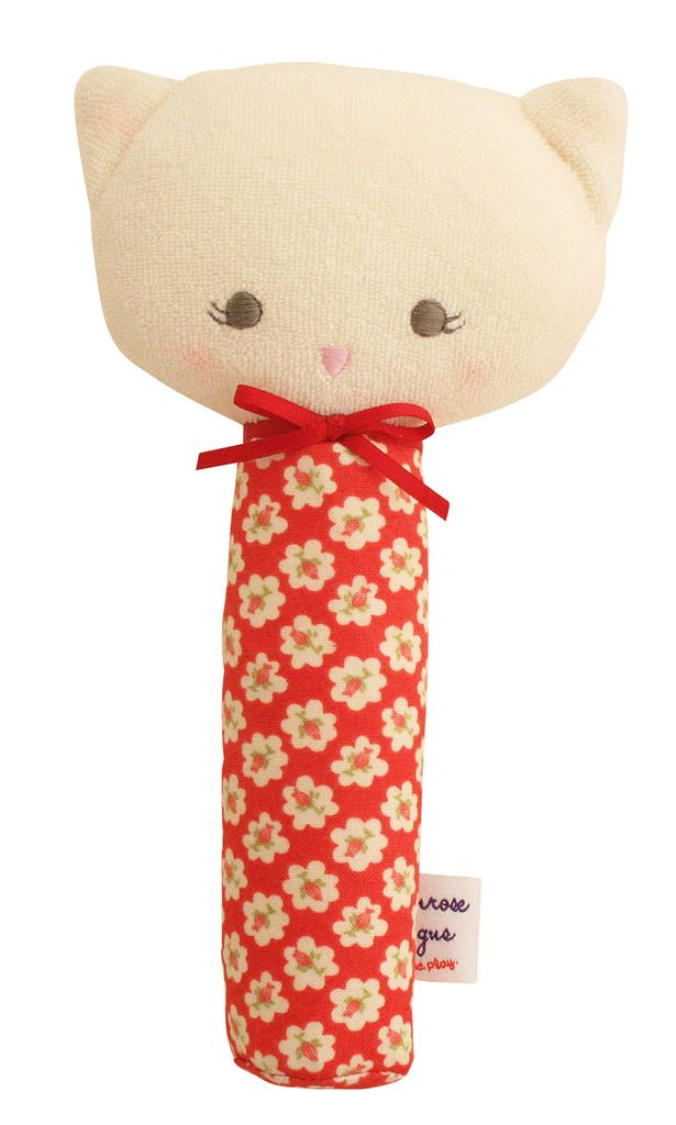 Alimrose Alimrose Red Posy Kitty Squeaker