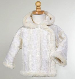 American Widgeon American Widgeon Hooded Furry Cable Knit Sweater Jacket