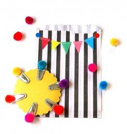 Hello shiso Hello shiso Rainbow Pom Pom Clips