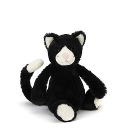 JellyCat Jelly Cat Bashful Black and White Kitten Medium