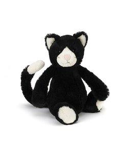JellyCat Jelly Cat Bashful Black and White Kitten Small