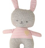 Alimrose Alimrose Sonny Bunny Rattle Grey Marle and Pink
