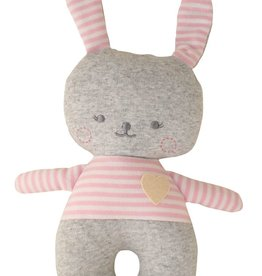 Alimrose Alimrose Sonny Bunny Rattle Grey Marle and Pink
