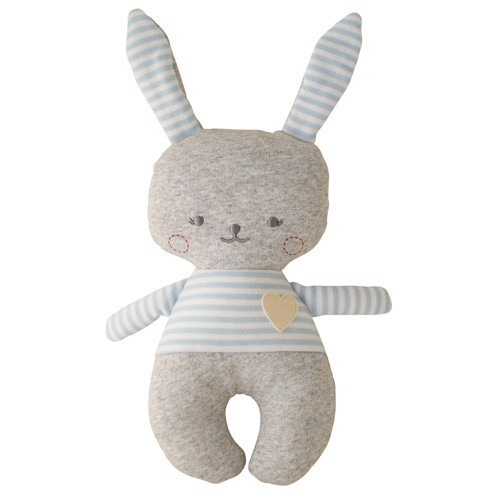 Alimrose Alimrose Sonny Bunny Rattle Grey Marle and Blue