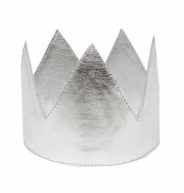 Oh Baby Oh Baby Silver Metallic Crown Infant