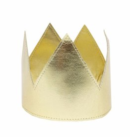 Oh Baby Oh Baby Gold Metallic Crown Infant