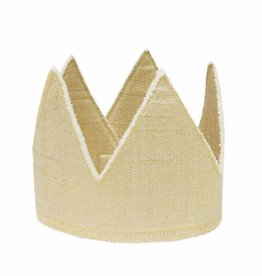 Oh Baby Oh Baby Gold Linen Crown Infant