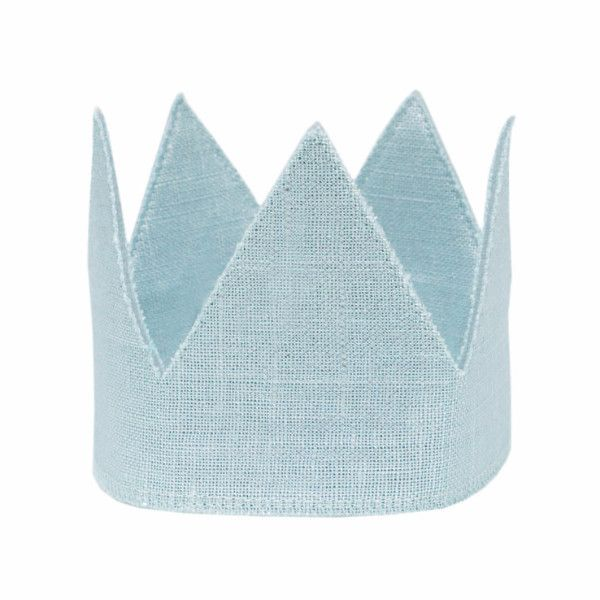 Oh Baby Oh Baby Aqua Linen Crown Toddler