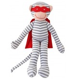 Alimrose Alimrose Super Hero Monkey Rattle Grey