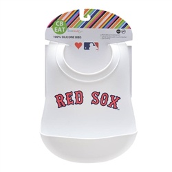 chewbeads Chewbeads MLB Baby Red Sox Gameday Bib with Crumb Catcher