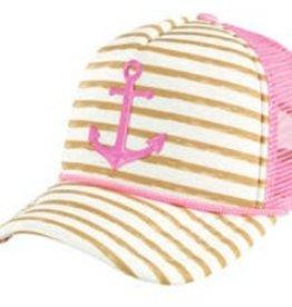San Diego Hat San Diego Hat Anchor Stripe Trucker Hat