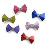 Hello shiso Hello shiso Metallic Bow Clip Purple