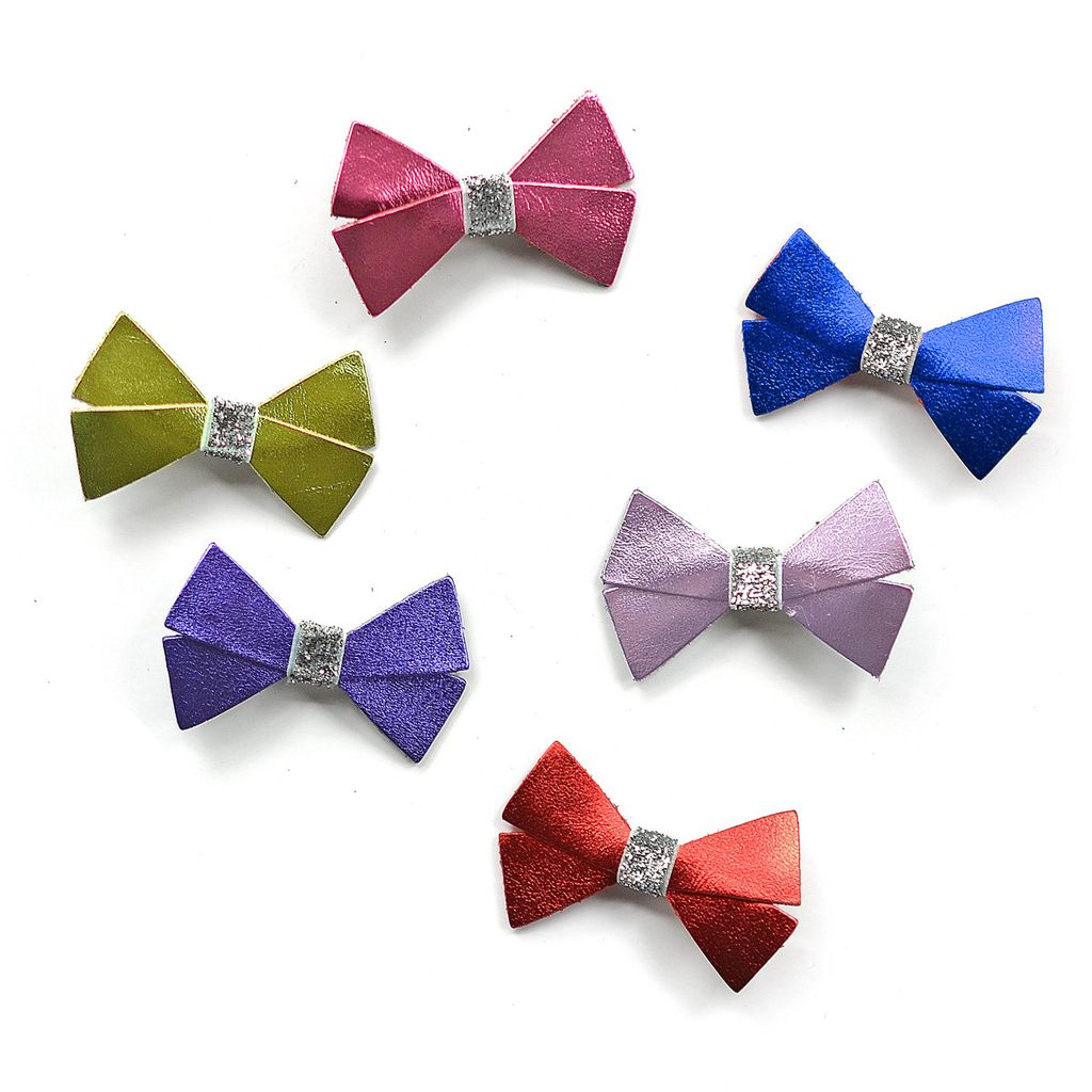 Hello shiso Hello shiso Metallic Bow Clip Purple