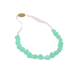 chewbeads Chewbeads Juniorbeads Spring Heart Necklace *More Colors*