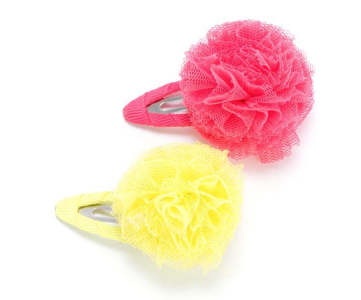 Peppercorn Kids Peppercorn Kids Tulle Pompom Hair Clip 2 pack
