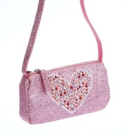 Peppercorn Kids Peppercorn Kids Glitter Purse with Heart Applique *More Colors*