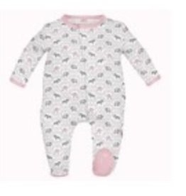 Magnificent Baby Magnificent Baby Girl Darjeeling Damask Footie