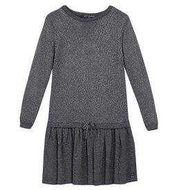 Lili Gaufrette Lili Gaufrette Long Sleeve Knit Dress with Bow *More Colors*