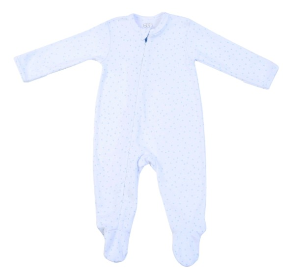 Egg Jersey Layette Zipper Footie *More Colors*