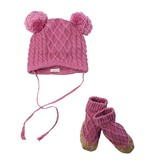 Egg Cable Knit Hat & Booties Set *More Colors*