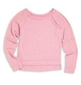 T2Love T2Love Long Sleeve Block Crewneck Sweatshirt