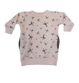 Go Gently Baby Go Gently Baby Pocket Sweatshirt Dress & Stripe Leggings