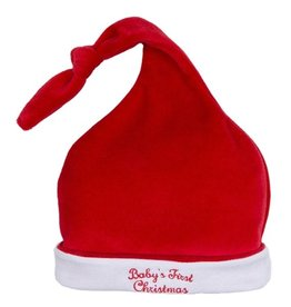 kissy kissy Kissy Kissy Baby's First Christmas Velour Hat