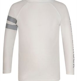 Snapper Rock Snapper Rock White Arm Band LS Rash Top