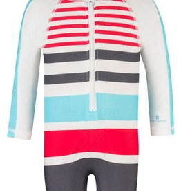 Snapper Rock Snapper Rock Multi Stripe Long Sleeved Sunsuit