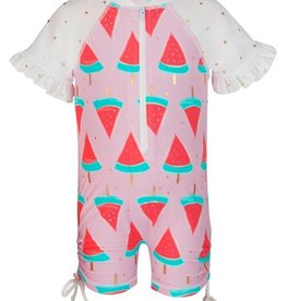 Snapper Rock Snapper Rock Watermelon Short Sleeved Sunsuit