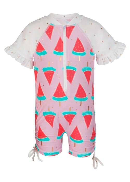Snapper Rock Snapper Rock Watermelon Short Sleeved Sunsuit UV50+