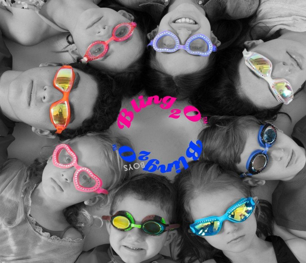 Bling2o Bling2o Heart Swirl Swim Goggles