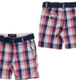 Mayoral Mayoral Plaid Shorts with Belt