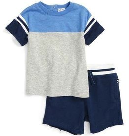 Splendid Splendid Baby Short Sleeve Football Tee & Short Set