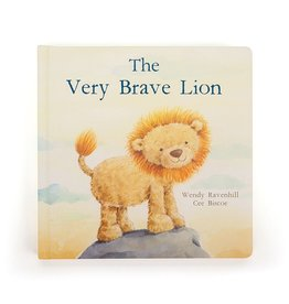 JellyCat Jelly Cat The very brave Lion Book