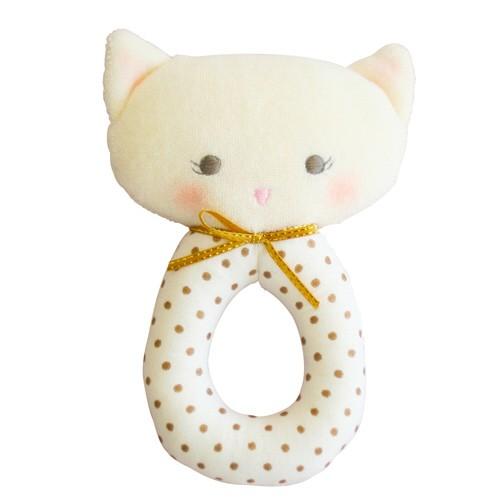 Alimrose Alimrose Kitty Grab Rattle Gold
