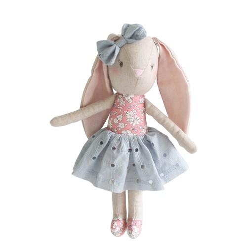 Alimrose Alimrose Linen Baby Pearl Bunny Toy Pink