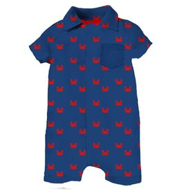Magnificent Baby Magnificent Baby Crab Pique Polo Romper
