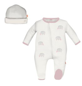 Magnificent Baby Magnificent Baby Pink Trim Sheep Footie Set