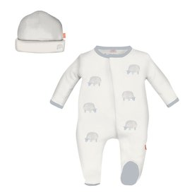 Magnificent Baby Magnificent Baby Blue Trim Sheep Footie Set