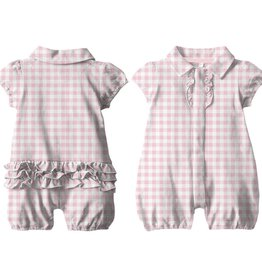 Magnificent Baby Magnificent Baby Pink Gingham Romper