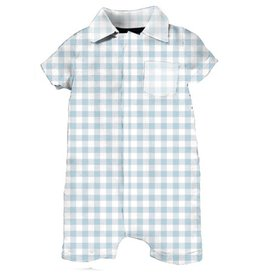 Magnificent Baby Magnificent Baby Blue Gingham Romper