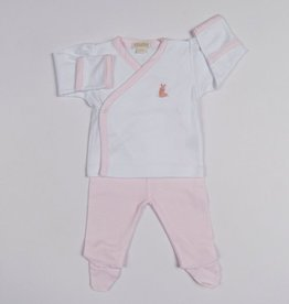 kissy kissy Kissy Kissy Cottontails Footed Pant Set