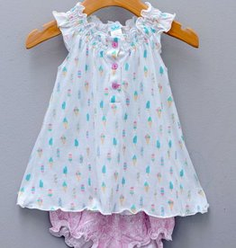 Feather Baby Feather Baby Henley Ice Cream Dress and Bloomer
